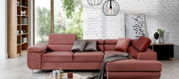 Matching the corner sofa to the interior colours